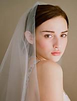 Недорогие -Один слой Старинный / Классический Свадебные вуали Фата до кончиков пальцев с Однотонные / Стразы Тюль