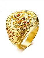 baratos -Homens Retro Midi Ring - Aço Titânio Ancora Fashion 8 / 9 / 10 / 11 / 12 Dourado Para Presente Diário