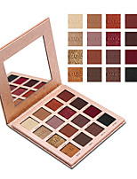 Недорогие -Makeup 16 цветов Тени для век Тени для век Не тестировалось на животных / Не содержит формальдегидов / Pro Мерцающий блеск Покрытие Стойкий