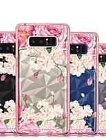 Недорогие -Кейс для Назначение SSamsung Galaxy Note 8 Покрытие / Полупрозрачный / С узором Кейс на заднюю панель Цветы Мягкий ТПУ для Note 8