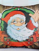 baratos -Fronha Natal / Férias Poliéster Rectângular Festa / Novidades Decoração de Natal