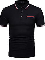 baratos -Homens Polo Sólido Colarinho de Camisa / Manga Curta