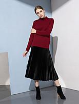 Недорогие -Жен. Активный Пуловер - Однотонный, Пэчворк
