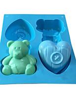 Недорогие -Инструменты для выпечки силикагель Милый Торты Формы для пирожных 1шт