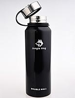 Недорогие -Jungle King Походная чашка Вакуумный Кубок сохраняющий тепло Нержавеющая сталь на открытом воздухе за Черный Военно-зеленный Красный