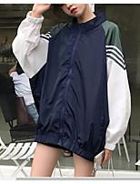 Недорогие -Жен. Куртка Полоски Кружевная отделка