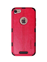 billiga -fodral Till Apple iPhone 7 Stötsäker Skal Enfärgad / Linjer / vågor Hårt TPU för iPhone 7