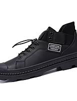 Недорогие -Муж. Комфортная обувь Полиуретан Осень Кеды Белый / Черный / Коричневый