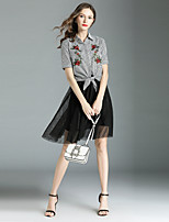 cheap -Women's Shirt - Floral Skirt