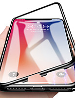 economico -Custodia Per Apple iPhone X / iPhone 7 Traslucido / A calamita Integrale Tinta unita Resistente Vetro temperato / Metallo per iPhone X / iPhone 8 Plus / iPhone 8
