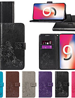 cheap -Case For Apple iPhone XS / iPhone XR Wallet / with Stand / Flip Full Body Cases Solid Colored Hard PU Leather for iPhone XS / iPhone XR / iPhone XS Max