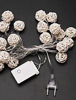 Недорогие -4.6м Гирлянды 20 светодиоды Тёплый белый Декоративная / Cool 220-240 V