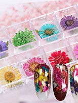 billiga -12 pcs Dekaler Multifunktion / Bästa kvalitet Blomma nagel konst manikyr Pedikyr Dagligen / Festival Romantisk / Mode