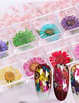 cheap -12 pcs Decals Multi Function / Best Quality Flower nail art Manicure Pedicure Daily / Festival Romantic / Fashion