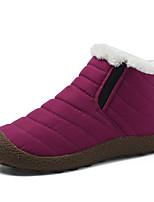 Недорогие -Жен. Комфортная обувь Синтетика Зима На каждый день Ботинки На плоской подошве Черный / Пурпурный