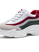 Недорогие -Жен. Комфортная обувь Микроволокно Осень Кеды На плоской подошве Квадратный носок Белый