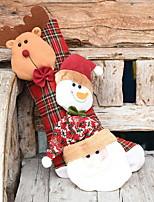 Недорогие -Чулки Новогодняя тематика Ткань Квадратный Оригинальные Рождественские украшения