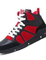 Недорогие -Муж. Комфортная обувь Полиуретан Осень На каждый день Кеды Нескользкий Черно-белый / Красный