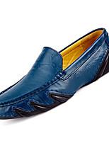 abordables -Homme Mocassins Cuir Automne Décontracté Mocassins et Chaussons+D6148 Respirable Noir / Marron / Bleu