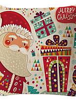 Недорогие -Наволочка Новогодняя тематика Хлопковая ткань Квадратный Для вечеринок Рождественские украшения