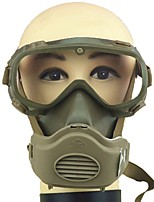 Недорогие -1pcs пластик Газовая маска и очки Безопасность и защита / Защита двойной газовой маски Полнолицевые Защита от пыли Газовая защита