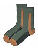 Недорогие -1 пара Универсальные Носки Standard Полоски Спортивный Простой стиль Хлопок EU36-EU42