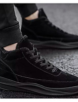 Недорогие -Муж. Комфортная обувь Полиуретан Зима Кеды Ботинки Черный / Серый / Красный