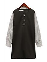 preiswerte -Damen Street Schick Hülle Kleid Einfarbig Übers Knie