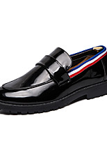 cheap -Men's Formal Shoes Faux Leather Fall & Winter Casual / Preppy Loafers & Slip-Ons Wear Proof Black