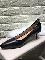 Недорогие -Жен. Балетки Наппа Leather Весна / Лето Деловые / На каждый день Обувь на каблуках На каблуке-рюмочке Черный / Верблюжий / Телесный
