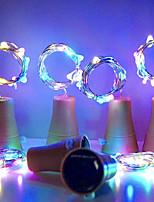 abordables -HKV 1m Guirlandes Lumineuses 10 LED Blanc Chaud / Blanc / Violet Solaire / Décorative / Bouchon de bouteille de vin Bouchon de cuivre Alimentation Solaire 4pcs