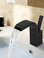 abordables -Robinet lavabo - Jet pluie / Séparé Peintures Montage Mitigeur un trou