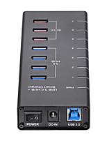 Недорогие -Unestech 7 USB-концентратор USB 3.0 USB 3.0 / USB Type B / USB 3.0 Тип B Высокая скорость / Защита входа / Новый дизайн Центр данных
