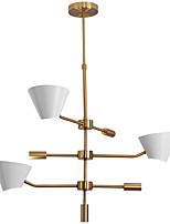 baratos -ZHISHU 3-luz Lustres Luz Descendente Galvanizar Metal Novo Design 110-120V / 220-240V Lâmpada Incluída / G9