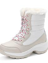 Недорогие -Жен. Комфортная обувь Полиуретан Зима На каждый день Ботинки На плоской подошве Бежевый / Темно-синий / Красный