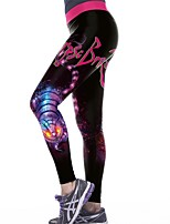 cheap -Women's Patchwork Yoga Pants - Black / Rose Red Sports Halloween Spandex Leggings Dance, Running, Fitness Activewear Anatomic Design, Breathable, Soft Stretchy Slim
