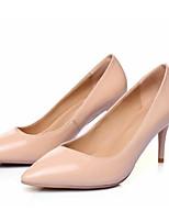 abordables -Femme Chaussures de confort Cuir Verni Automne Chaussures à Talons Talon Aiguille Amande