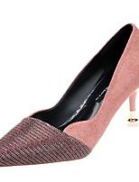 abordables -Femme Escarpins Polyuréthane Automne Minimalisme Chaussures à Talons Talon Aiguille Noir / Rose / Quotidien