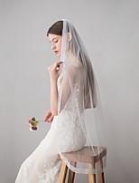 Недорогие -Один слой Старинный / Классический Свадебные вуали Фата до кончиков пальцев с Однотонные Кружева / Тюль