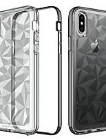 Недорогие -Кейс для Назначение Apple iPhone X / iPhone XS Покрытие / Полупрозрачный Кейс на заднюю панель Однотонный Мягкий ТПУ для iPhone XS