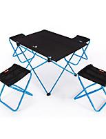 cheap -BEAR SYMBOL Camping Folding Chair / Camping Table Outdoor Lightweight, Anti-Slip, Folding Oxford Cloth, 7075 Aluminium for Fishing / Camping Blue / Orange