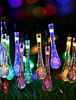 Недорогие -6,8 млн Гирлянды 40 светодиоды Тёплый белый / RGB Работает от солнечной энергии / Очаровательный / Новый дизайн Солнечная энергия 1 комплект