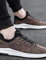 Недорогие -Муж. Комфортная обувь Замша Весна лето На каждый день Кеды Черный / Серый / Коричневый