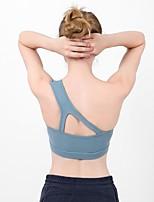 preiswerte -Sexy Sport-BHs / BH-Oberteil Gefüttert Medium Unterstützung Für Yoga / Übung & Fitness / Laufen - Weiß / Schwarz / Blau Atmungsaktiv, Schweißableitend Damen Volltonfarbe Nylon, Elasthan