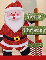 Недорогие -Рождественские украшения Новогодняя тематика деревянный Оригинальные Рождественские украшения
