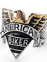 preiswerte -Herrn Vintage Stil / Skulptur Ring - Titanstahl, Rostfrei Eagle Stilvoll, Retro, Punk 8 / 9 / 10 Silber Für Geschenk / Strasse
