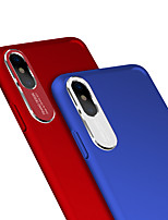 cheap -Case For Apple iPhone X Dustproof Back Cover Solid Colored Hard PC / Metal for iPhone X