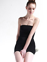 baratos -Mulheres Costura Vestido com Corpete - Sólido