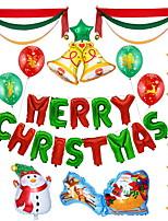 baratos -Ornamentos / Enfeites de Natal Desenho Plástico Cubo Desenho Animado Decoração de Natal