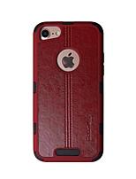 Недорогие -Кейс для Назначение Apple iPhone 8 Защита от удара Кейс на заднюю панель Однотонный / Полосы / волосы Твердый ТПУ для iPhone 8